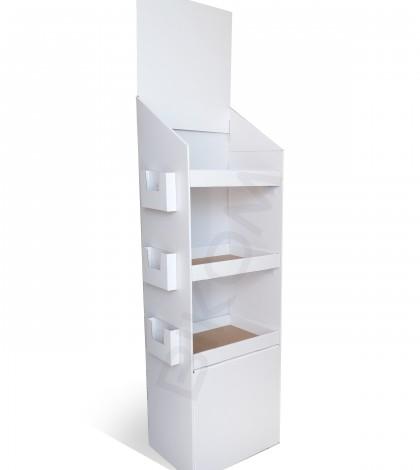 Meuble display box plv carton totem en carton for Meuble bureau 3d