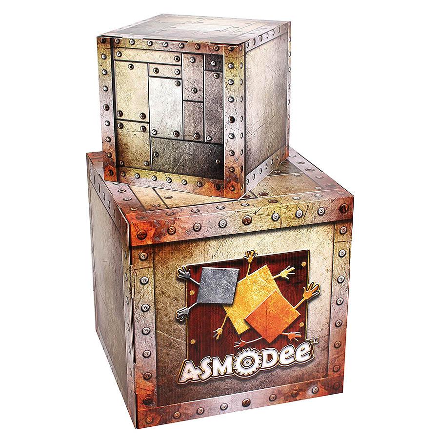 Cube en carton imprimé
