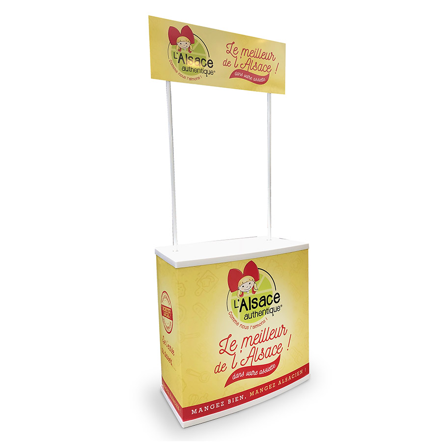 Bikom fabricant de stand de dégustation en pvc personnalisé
